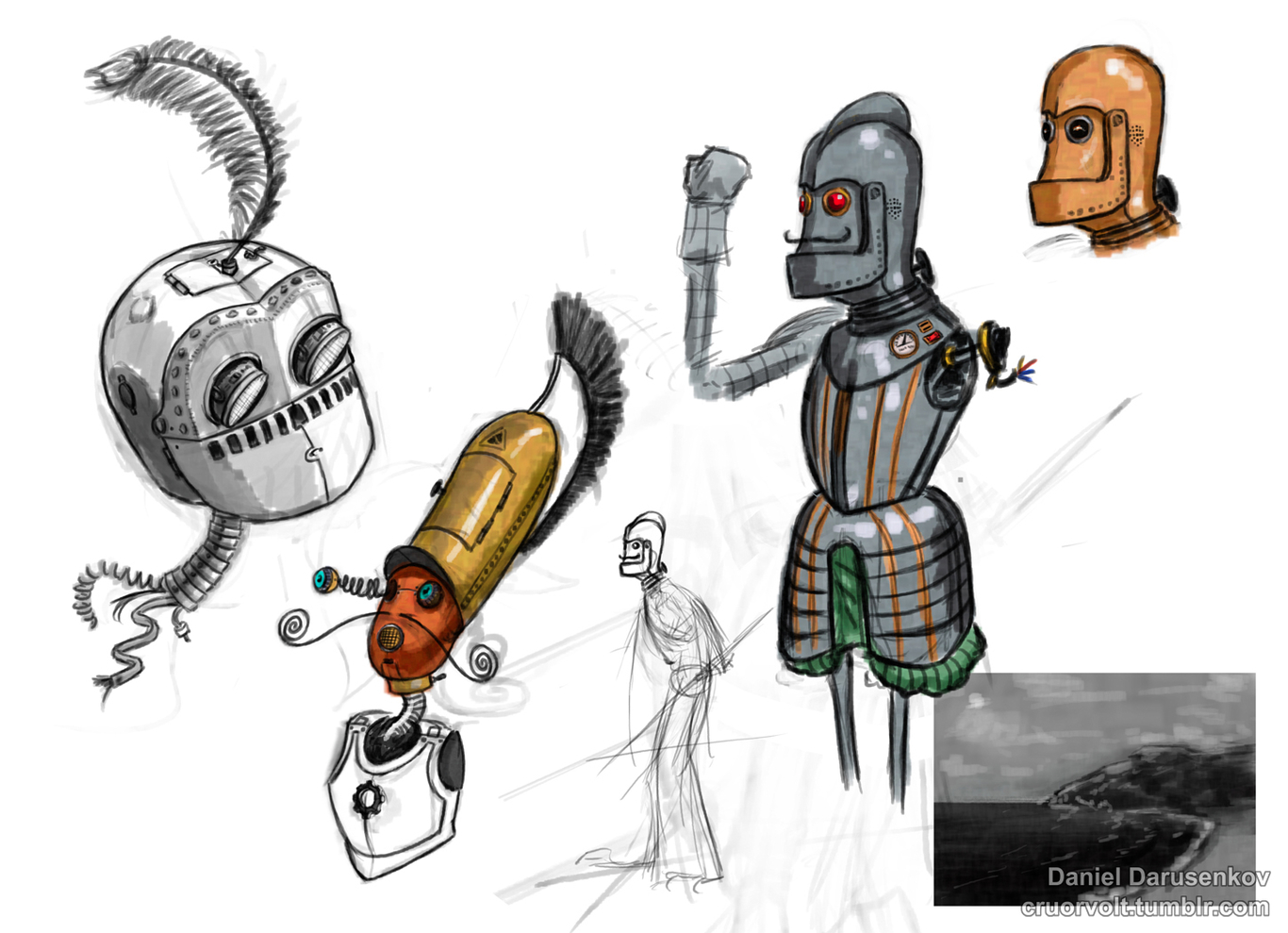 Robots in armour.