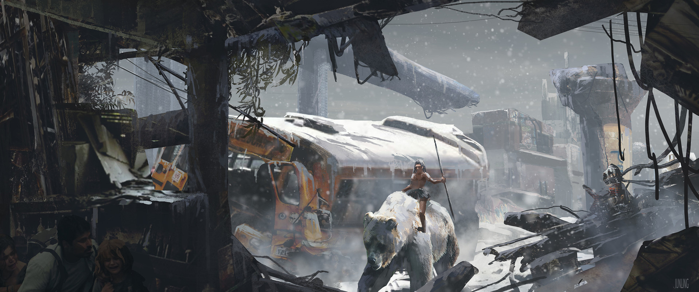snow-debris