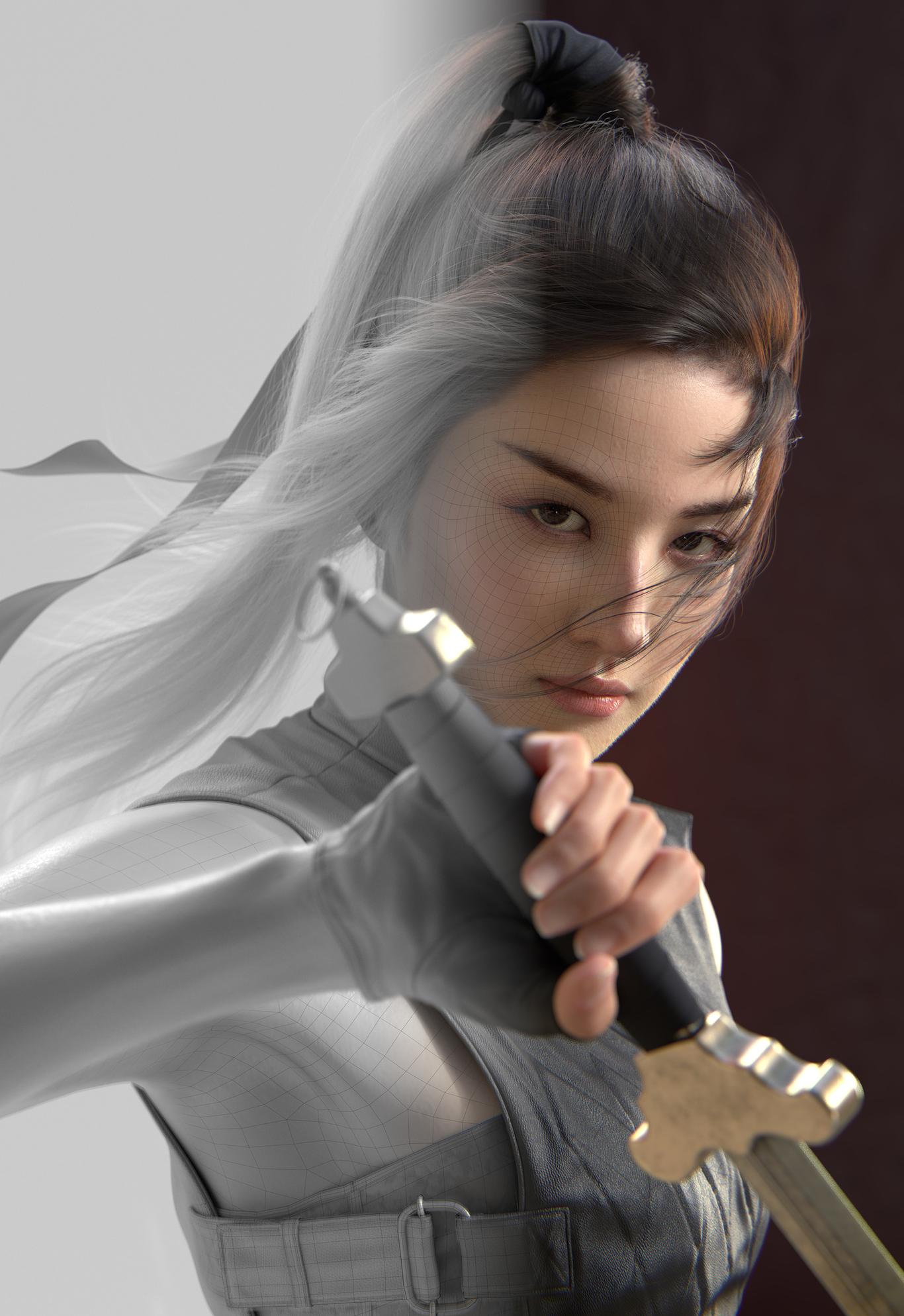 Liu yifei likeness as Mulan, , jwpark - CGSociety