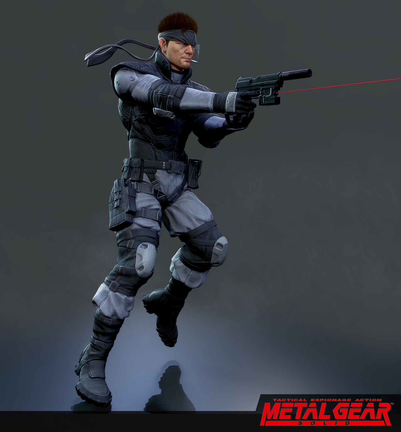 Solid Snake Meatal Gear Solid Fan Art By Kiddleong 3d