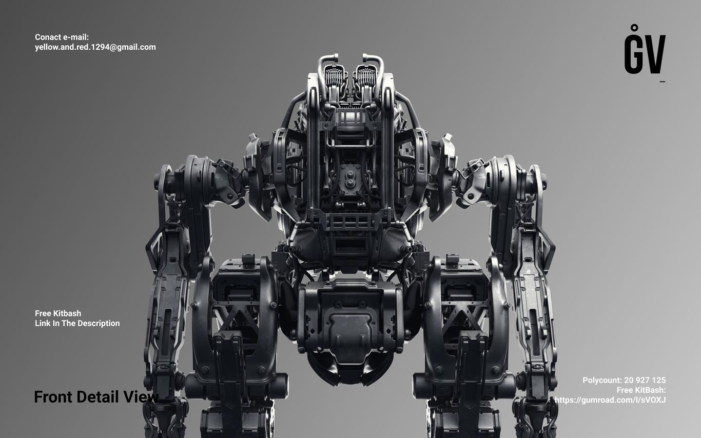 PROJECT GAVRIIL by KLICKSTOP | Robotic/Cyborg | 3D | CGSociety