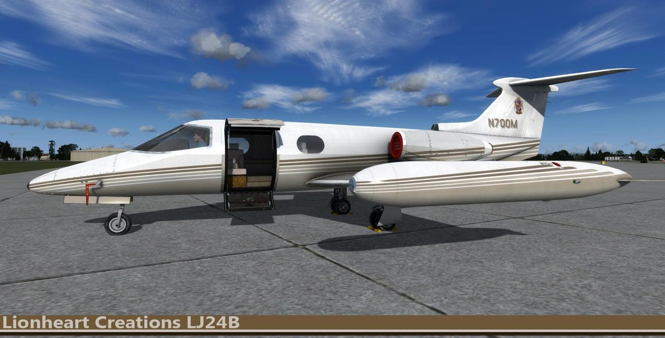 Learjet LJ24B On the Ramp by lionhart   Realistic   3D