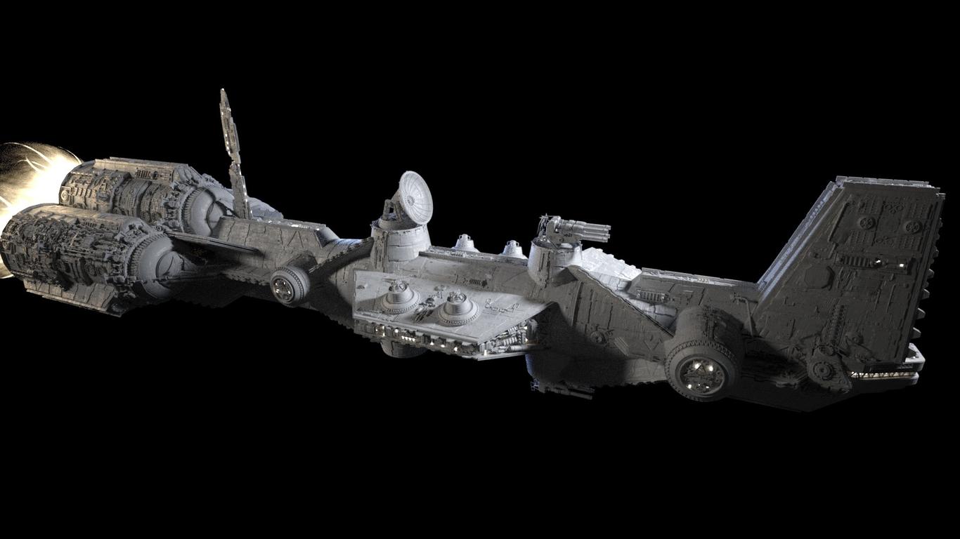 Star Wars style ship by MartonAntal   Sci-Fi   3D   CGSociety