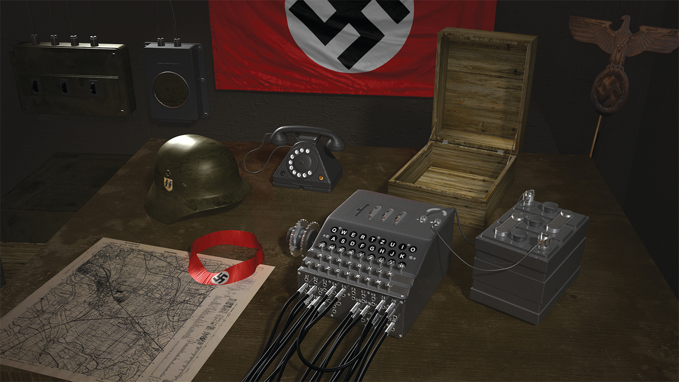 Nazi Enigma Code Machine