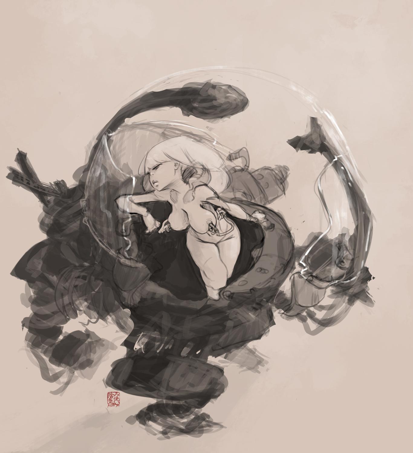 Mitsukai inki doodle mecha girl 1 5f0f1302 j8q2