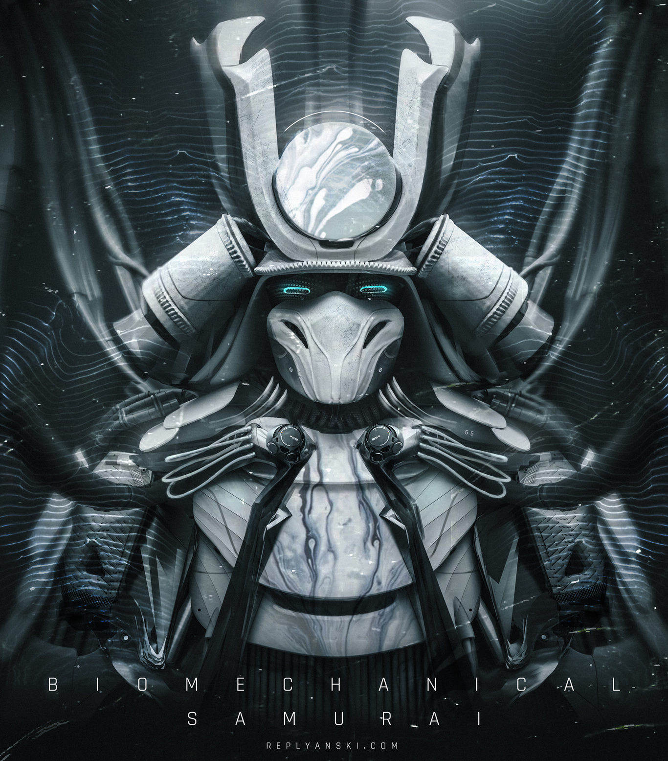 Biomechanical Samurai By Replyanski Robotic Cyborg 2d