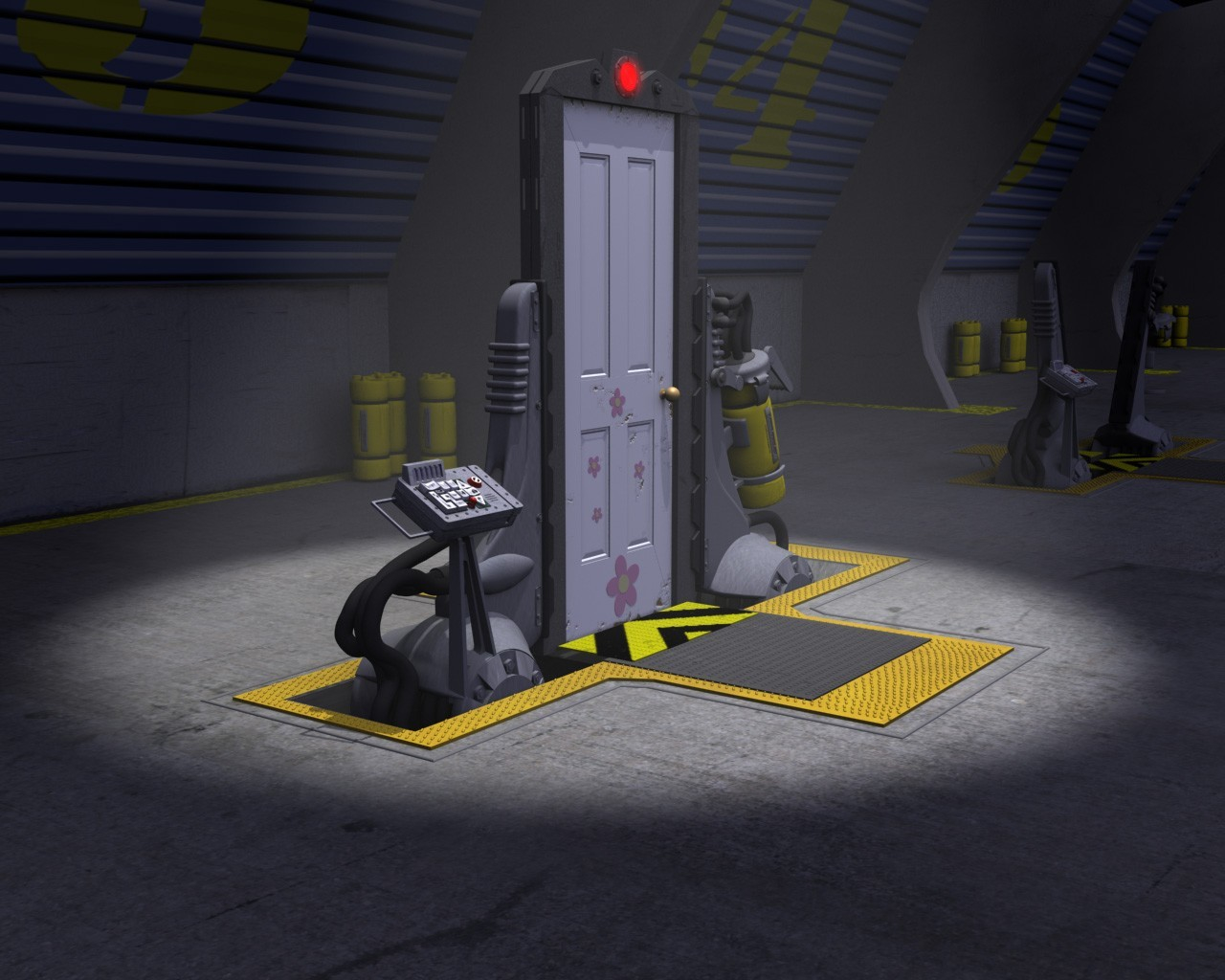 Monsters Inc Door Station By Simjoy 3d Cgsociety