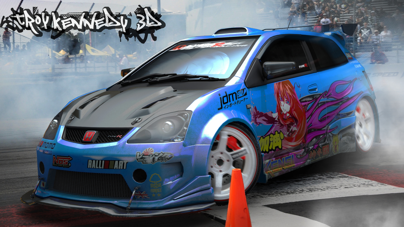 Honda Civic Type R Ep3 Street Race Car By Troy93d Design 3d Cgsociety