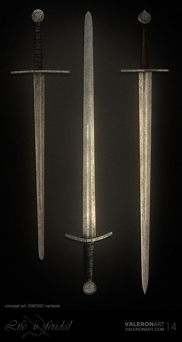 Life is feudal - Sword variants