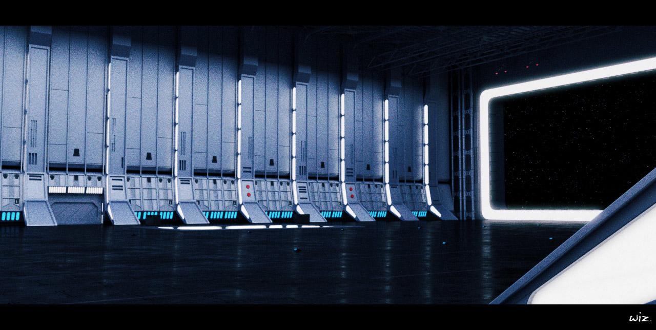 Deathstar Hangar Variant Wiz Sci Cgsociety
