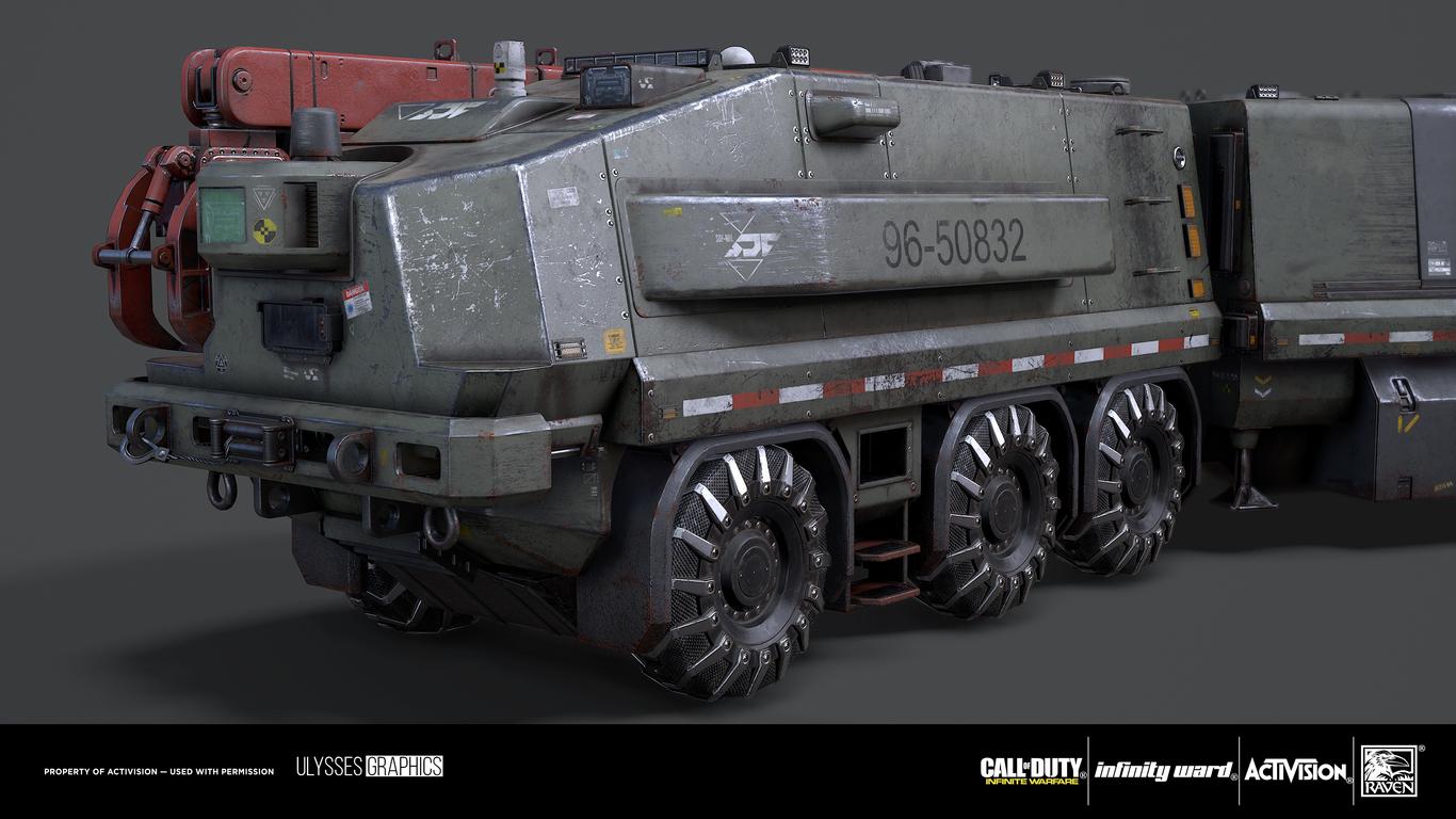 call of duty infinite warfare all terrain transport vehicle attv by zelfit sci fi 3d. Black Bedroom Furniture Sets. Home Design Ideas